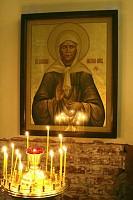 Икона святой блаженной старицы Матроны Московской с частицей мощей