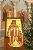 Икона с частицей мощей святителя Луки Крымского